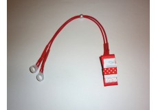 obrázek Záchytný klip na sluchadla nebo procesor/y - Sada červená mašlička