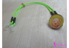obrázek Záchytný klip na sluchadla nebo procesor/y - Zelený medvídek