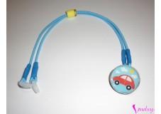 obrázek Záchytný klip na sluchadla nebo procesor/y - Modré autíčko