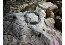 obrázek Náramek fialovo stříbrný