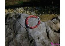 obrázek Náramek červeno - stříbrný