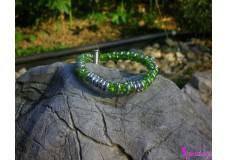 obrázek Náramek zeleno - stříbrný