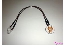 obrázek Záchytný klip na sluchadla nebo procesor/y - Bílý medvídek II.jakost