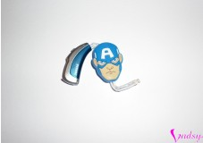 obrázek Ozdoba na sluchadlo nebo procesor - Hlava Captain Amerika