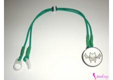 obrázek Záchytný klip na sluchadla nebo procesor/y - Zelený netopýr