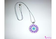 obrázek Náhrdelník fialová mandala