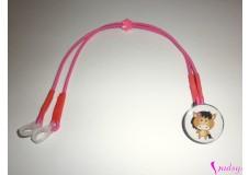obrázek Záchytný klip na sluchadla nebo procesor/y - Koník s růžovou kytičkou