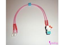 obrázek Záchytný klip na sluchadla nebo procesor/y - Hello Kity s červenou mašlí