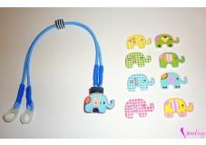 obrázek Záchytný klip na sluchadla nebo procesor/y - Dřevěný slon