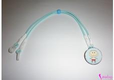 obrázek Záchytný klip na sluchadla nebo procesor/y - Světle modrý chlapeček