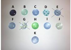 obrázek Záchytný klip na sluchadla nebo procesor/y - Zeleno-Fialové Motivy