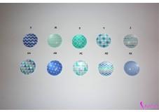 obrázek Záchytný klip na sluchadla nebo procesor/y - Tyrkysovo-Fialové Motivy