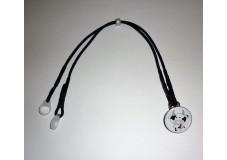 obrázek Záchytný klip na 2 naslouchátka - Černo Bílé Ornamenty