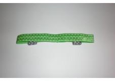 obrázek Čelenka na sluchadla nebo procesory zelená s puntíky