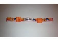 obrázek Čelenka na sluchadla nebo procesory Oranžová s medvídkem PU obvod hlavy 46-52 cm