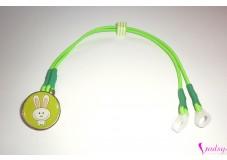 obrázek Záchytný klip na sluchadla nebo procesor/y - Zelený zajíček II.jakost