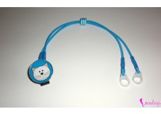 obrázek Záchytný klip na sluchadla nebo procesor/y - Modrá kočička II. jakost na plastovém klipu